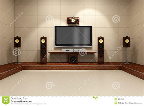 bedroom music system contemporary home theater system stock photos image 9618403