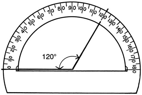 unit circle printable version protractor drawing math pictures images clip art