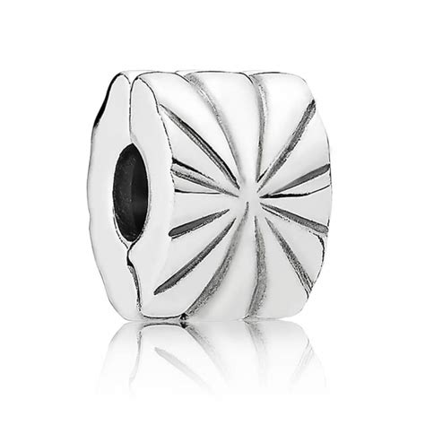 Pandora Clip Charm Sunburst Silver P 522 pandora silver sunburst clip 790210 from gift and wrap uk