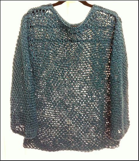 Knit Mesh Sweater Pattern   cotton mesh sweater allsquareknits knitting pattern by