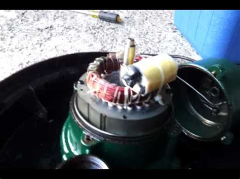 blown capacitor causes zoeller bn152 bn 152 sewage failure with blown capacitor cbb20