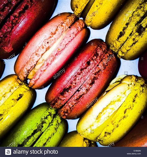 colorful macaroons colourful macaroons stock photo royalty free image