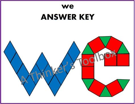 pattern block words pattern blocks 2 letter sight word puzzles student
