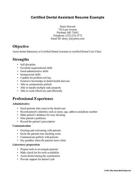 Resume For Registered by Sle Resume For Registered Dental Assistant Resume