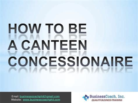 certification letter for canteen concessionaire how to be a canteen concessionaire