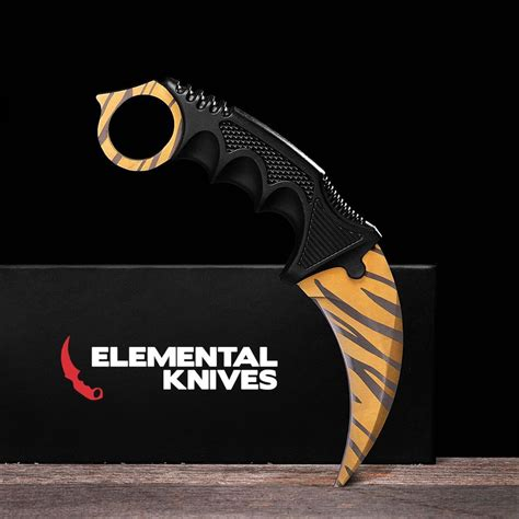 tiger karambit elemental knives tiger tooth real csgo knife skin counter