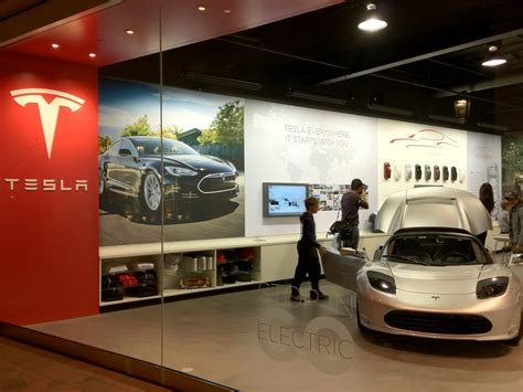 Fashion Island Tesla Tesla Store Fashion Island Newport Orange County