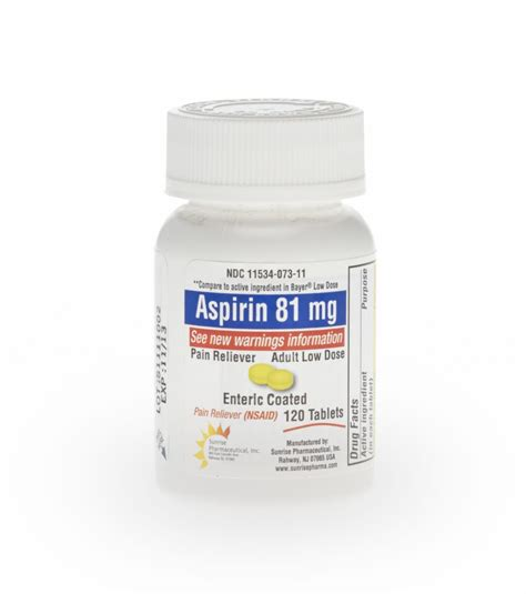 aspirin dosage medline aspirin low dose enteric coated tablet aspirin ec 81mg tab 120 bt each