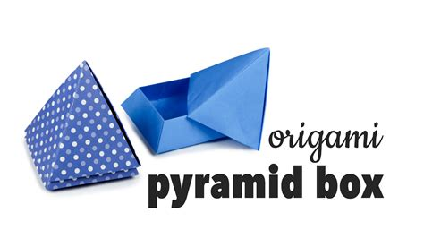 Origami Pyramid Box - origami pyramid box tutorial diy gift box