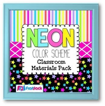 neon color scheme neon color scheme classroom decor materials pack tpt