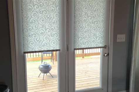 shade for patio door interior roll up window treatment for door hanging on