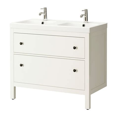 Ikea Vanity Drain Hemnes Odensvik Sink Cabinet With 2 Drawers White Ikea