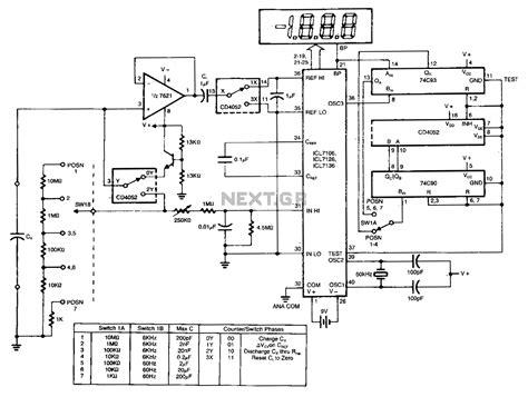 capacitance meter diagram gt meter counter gt meters gt digital ad capacitance meter l13186 next gr