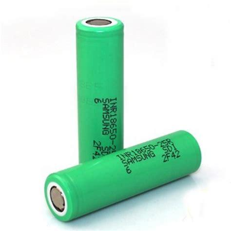 Samsung Inr 18650 25r Li Ion Battery 2500mah 3 7v With Flat Top T3010 2 samsung 25r 2500mah 18650 battery 2 pack green
