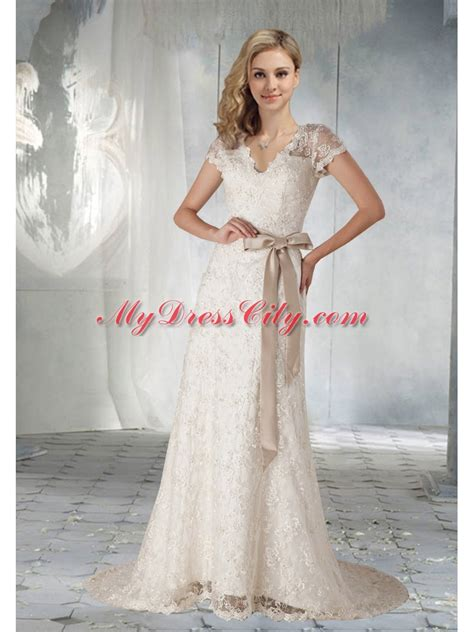 Pretty Wedding Dresses With Sleeves by 2014 Pretty Sleeves Wedding Dress With Lace