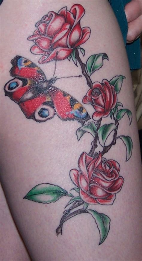 rose upper thigh tattoo thigh www imgkid the image kid