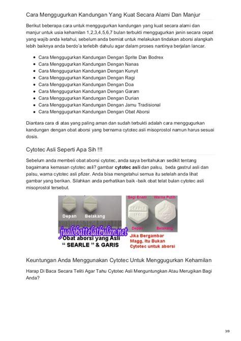 Obat Penggugur Cytotec Murah Obat Telat Bulan Cytotec Asli Obat Aborsi Penggugur