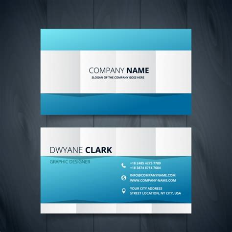 business card clean template design clean modern business card design vector free