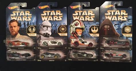 Hotwheels Starwars Series Number 58 Enforcer 2015 wars the awakens wheels car set of 8 new exclusive wal mart fractions 1 64