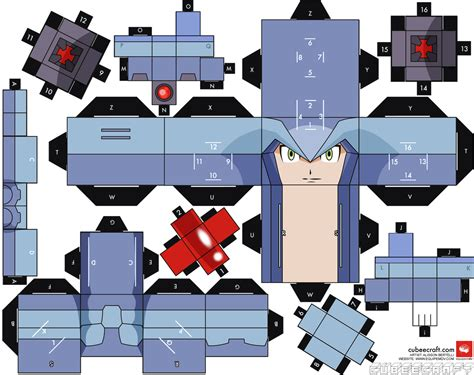 Paper L Craft - cubee craft megaman x papercraft