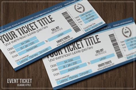 ticket cards template multipurpose simple event tickets card templates on