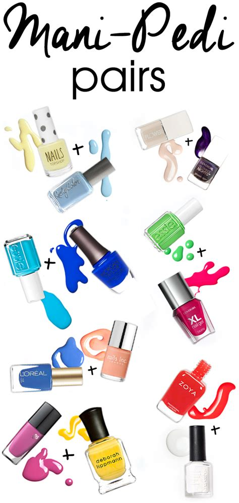 spring 2015 mani oedi combos coordinate your tips and toes with these summer mani pedi