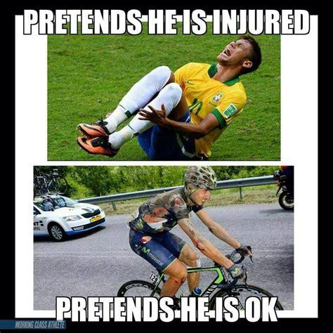 Cycling Memes - football vs cycling working class athlete