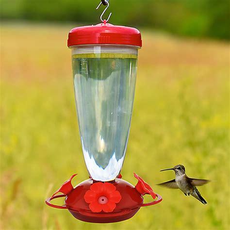 duncraft com top fill red petunia flower hummingbird feeder