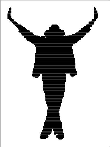 michael jackson this is it silhouette graphghan chart pattern