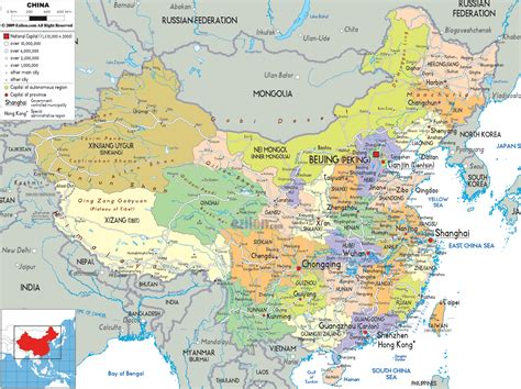 asia map china political map of china ezilon maps