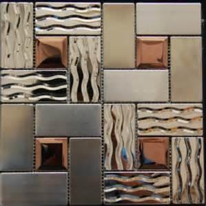 3d glass tile backsplash stainless steel tile backsplash ssmt269 kitchen mosaic