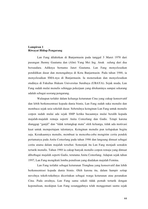 Teori Apresiasi Sastra Sugihastuti analisis novel perempuan kembang jepun