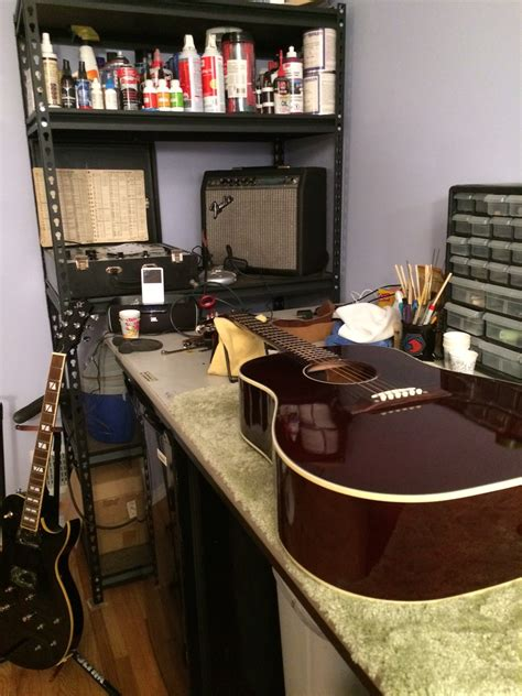 guitar repair bench midnight guitar repair rochester s nocturnal guitar and