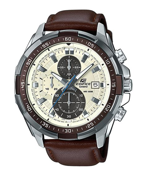 Jam Tangan Premium Quiksilver Date Crono Brown Leather efr 539l 7bv standard chronograph edifice timepieces casio