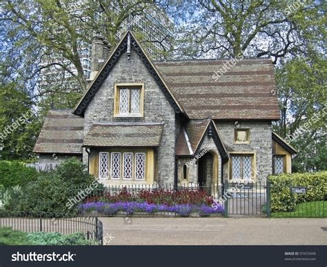 english house music a small english house in hide park in london stock photo 97473449 shutterstock