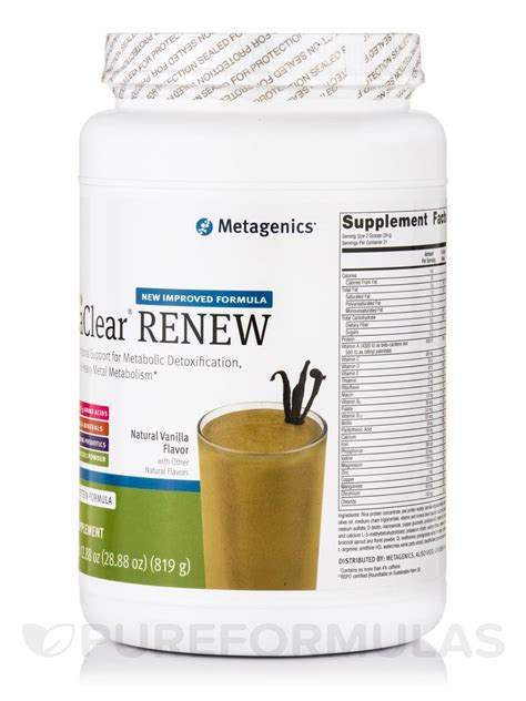Metagenics Ultra Clear 28 Day Detox Program by Ultraclear 174 Renew Rice Pea Protein Formula