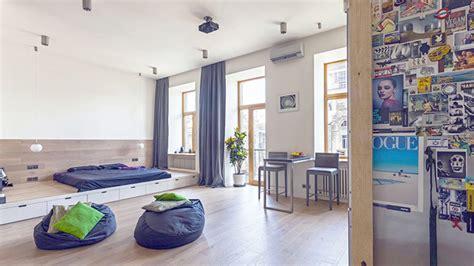 typing room a creative 58 sqm open studio apartment in ukraine home design lover