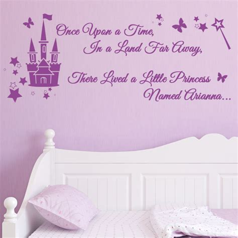Disney Princess Wall Stickers Large personalised once upon a time in a land far away there