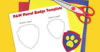 printable badge template paw patrol printable badge template nickelodeon parents