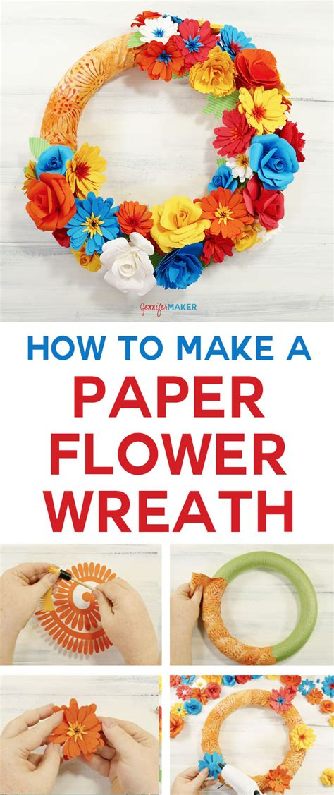How To Make A Paper Wreath - how to make a paper flower wreath the crafty stalker