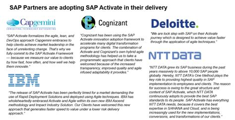 sap activate releases updates tools and additional