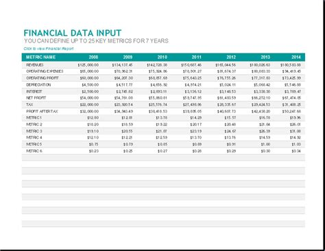 monthly financial report template excel presenting