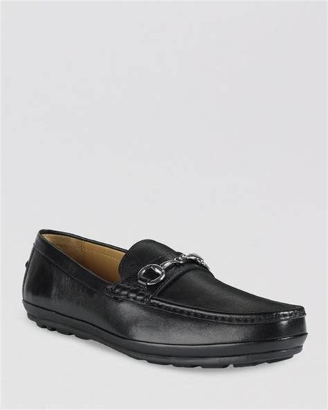 cole haan driving loafers cole haan hudson bit driving loafers in black for lyst