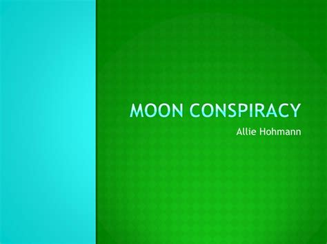 Moon Conspiracy Essay by Moon Conspiracy