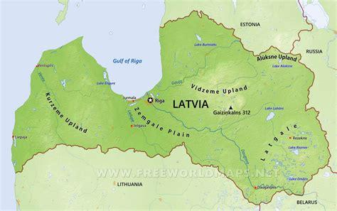 latvia on the world map latvia physical map