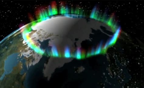 the light of northern fires ring of northern lights from space photo credit