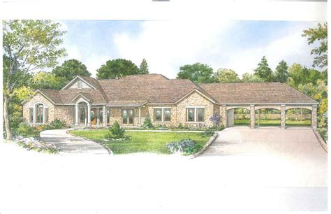hill country ranch home 46057hc architectural designs