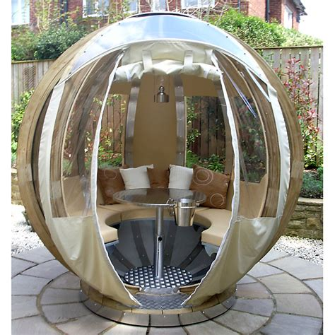 Backyard Pod by Dine And C In A Rotating Garden Pod Living In A Shoebox