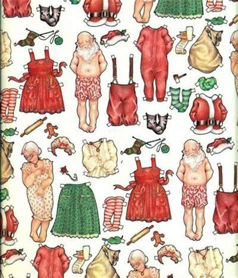 printable christmas paper dolls santa and mrs claus paper doll santa claus crafts