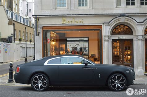 matte gray rolls royce matte black wrap gives the rolls royce wraith a robust look